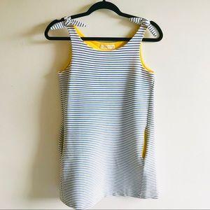 Zara Sailor Stripe Thick Woven Knotted Mini Dress